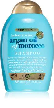 OGX Argan Oil Of Morocco Extra Strenght obnovující šampon pro velmi poškozené křehké vlasy