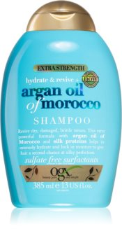 OGX Argan Oil Of Morocco Extra Strenght възстановяващ шампоан за силно увредена и тънка коса