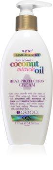 OGX Coconut Miracle Oil crema termo-protectoare pentru netezirea parului indisciplinat