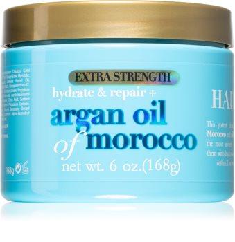 OGX Argan Oil Of Morocco Extra Strenght masca intensă de întinerire pentru par deteriorat