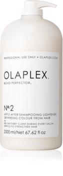 Olaplex N°2 Bond Perfector obnovitvena nega, ki zmanjšuje poškodovanje las med barvanjem z dozirno črpalko
