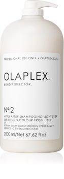 Olaplex N°2 Bond Perfector tratamiento renovador para reducir daños en cabello durante la coloración con dosificador