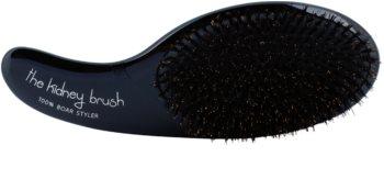 Olivia Garden The Kidney 100% Boar Styler cepillo para el cabello