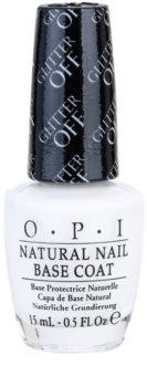 OPI Natural Nail Glitter Off prebase de uñas para eliminar fácilmente esmalte con purpurina