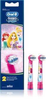 Oral B Stages Power EB10 Princess Ersättningshuvuden för tandborste Extra mjuk