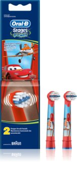 Oral B Stages Power EB10 Cars Ersättningshuvuden för tandborste 2 st