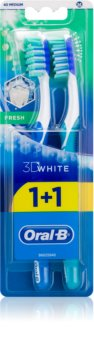 Oral B 3D White Fresh brosses à dents medium 2 pcs