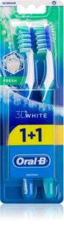 Oral B 3D White Fresh periuta de dinti Medium 2 pc