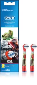 Oral B Stages Power EB10 Star Wars têtes de remplacement pour brosse à dents 2 pcs