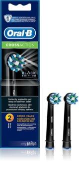 Oral B Cross Action EB 50 Black náhradní hlavice pro zubní kartáček 2 ks