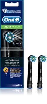 Oral B Cross Action EB 50 Black Replacement Heads For Toothbrush 2 pcs