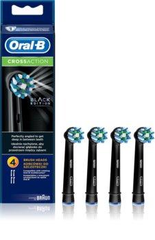 Oral B Cross Action EB 50 Black Ersatzkopf für Zahnbürste 4 pc