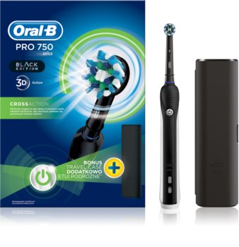 Oral B Pro 750 D16.513.UX CrossAction električna četkica za zube s etuijem