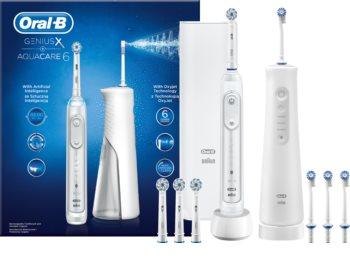 Oral B GeniusX + Aquacare 6 Zahnpflegeset
