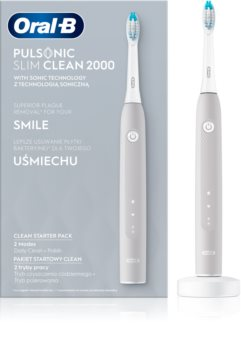 Oral B Pulsonic Slim Clean 2000 Grey sonický zubní kartáček