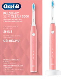 Oral B Pulsonic Slim Clean 2000 Pink Sonic elektromos fogkefe