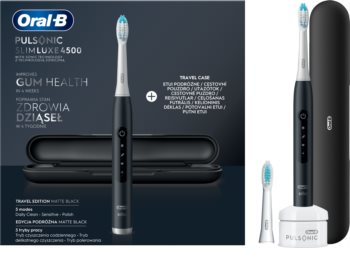 Oral B Pulsonic Slim Luxe 4500 Matte Black Sonic Toothbrush