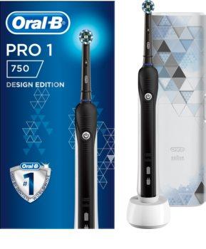 Oral B PRO 750 Cross Action Black Edition brosse à dents électrique avec étui