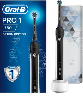 Oral B Pro 750 Cross Action Black Edition Electric Toothbrush With Bag Notino Co Uk