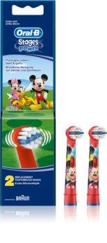Oral B Stages Power EB10 Mickey Mouse Ersättningshuvuden för tandborste Extra mjuk