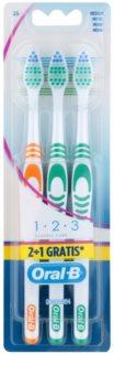 Oral B 1-2-3 Classic Care Medium Toothbrushes 3 pcs