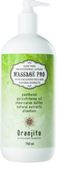 Oranjito Massage Pro latte per massaggi con aloe vera