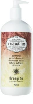 Oranjito Massage Pro latte per massaggi con latte e miele