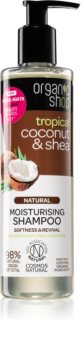 Organic Shop Natural Coconut & Shea champô hidratante  para cabelo seco a danificado