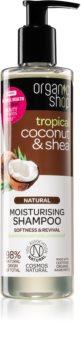 Organic Shop Natural Coconut & Shea Hydraterende Shampoo  voor Droog en Beschadigd Haar