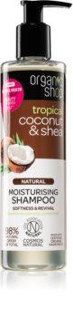 Organic Shop Natural Coconut & Shea shampoing hydratant pour cheveux secs et abîmés