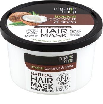 Organic Shop Natural Coconut & Shea intensive Haarmaske mit feuchtigkeitsspendender Wirkung