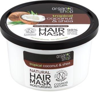 Organic Shop Natural Coconut & Shea intenzívna vlasová maska s hydratačným účinkom