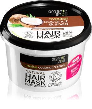 Organic Shop Natural Coconut & Shea máscara capilar intensiva com efeito hidratante