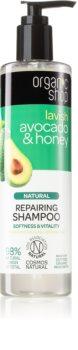 Organic Shop Natural Avocado & Honey sampon pentru regenerare pentru păr uscat și deteriorat