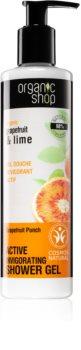 Organic Shop Organic Grapefruit & Lime τζελ ντους ενεργοποίησης