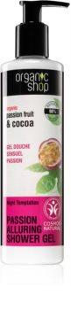 Organic Shop Organic Passion Fruit & Cocoa bódító illatú tusfürdő