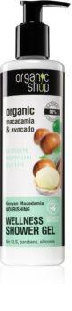 Organic Shop Organic Macadamia & Avocado vyživující sprchový gel