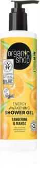 Organic Shop Organic Tangerine & Mango gel douche booster d'énergie