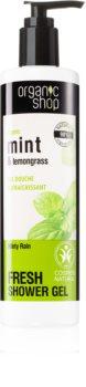 Organic Shop Organic Mint & Lemongrass felfrissítő tusfürdő gél