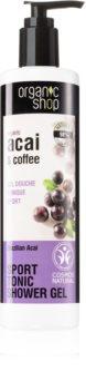 Organic Shop Organic Acai & Coffee зареждащ с енергия душ гел