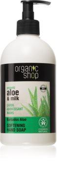 Organic Shop Organic Aloe & Milk pečující tekuté mýdlo na ruce