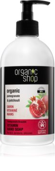 Organic Shop Organic Pomegranate & Patchouli savon liquide traitant pour les mains avec pompe doseuse