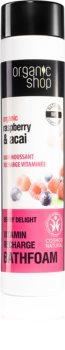Organic Shop Organic Raspberry & Acai schiuma da bagno alle vitamine