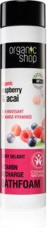 Organic Shop Organic Raspberry & Acai spumă de baie cu vitamine