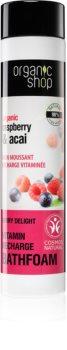 Organic Shop Organic Raspberry & Acai vitaminos habfürdő