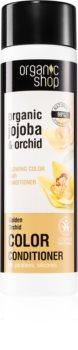Organic Shop Organic Jojoba & Orchid Hoitoaine Värjätyille Hiuksille