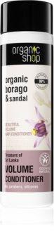 Organic Shop Organic Borago & Sandal conditioner pentru volum