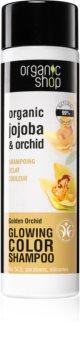 Organic Shop Organic Jojoba & Orchid Smoothing Shampoo for Hair Color Enhancement