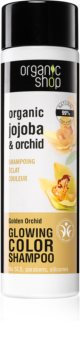 Organic Shop Organic Jojoba & Orchid изглаждащ шампоан за подчертаване на цвета на косата