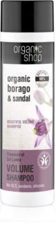 Organic Shop Organic Borago & Sandal objemový šampón
